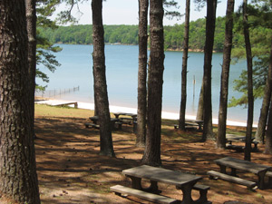 A view of Lake Allatoona from the porch of the large hall at Bartow Carver.